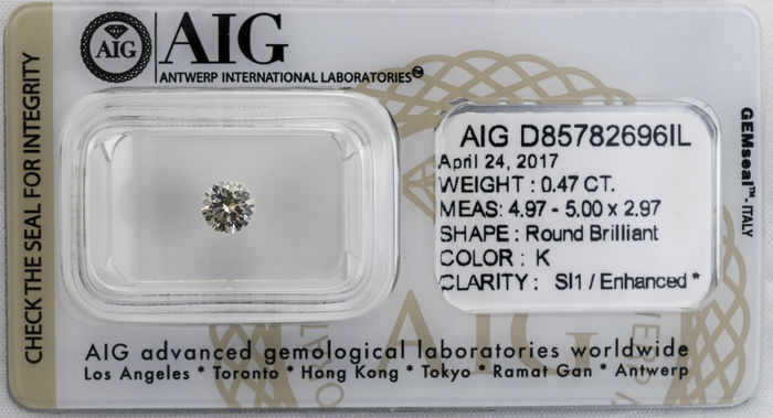 0.47  ct Brilliant cut  Diamond  K  SI1
