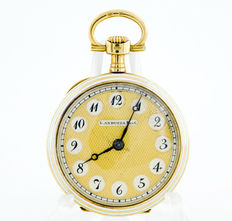 L.Anduiza Pocket and pendant watch, Lepine and Remontoir. 18 kt gold Circa 1900