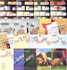 The Netherlands 1966/2001 - 19 year sets + collection on stock pages