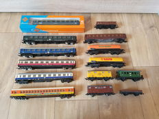 Fleischmann/Roco/Lima/Jouef H0 - 8 passenger carriages and 6 freight carriages