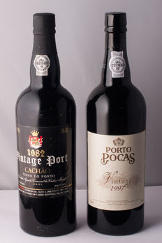 1982 Vintage Port Messias Quinta do Cachão & 1997 Vintage Port Poças - 2 bottles