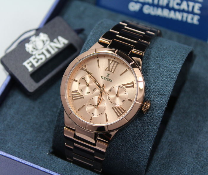 Festina – Ladies Rose Gold Designer Watch – Unworn