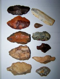 Collection of 11 Medieval Paleolithic artifacts - 2.5/ 8cm (11)