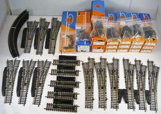 Roco H0 - series 42000 messing - Lot with switches, crossings, decouplers, rails and adjusting pieces, >300 pieces