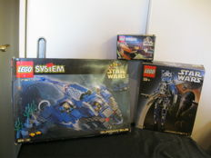 Star Wars - 7111 + 7161 + 8011 - Droid Fighter + Gungan Sub + Jango Fett