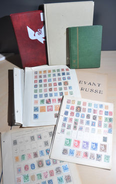 Russia, batch on old album sheets and in stock books, including Russia, Armenia and Ukraine