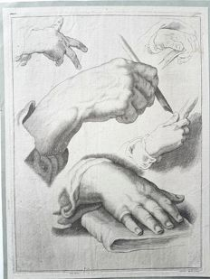 3 prints by probably Abraham Bloemaert(1566–27 January 1651) - Engravings from the Drawing Series - c.1650