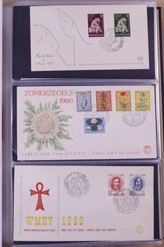 The Netherlands 1960/2010 – Complete collection FDCs in 4 DAVO preprint albums