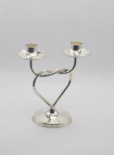 Italian designed sterling silver candle holder   , International hallmarked 900