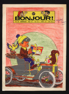 Endry - Original cover + colour tracing layer - Bonjour - (1966)