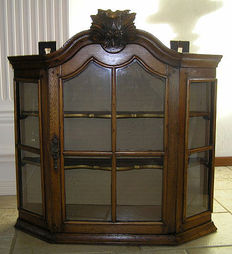 Hanging wooden display cabinet - England - probably early 20th century