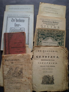 Folk books: Lot with 3 old editions and 5 newer ones - ca. 1830 / 1908