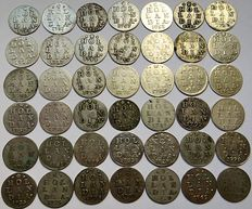 Holland - double coat of arms nickles - 1721/1792 - 42 different coins - silver
