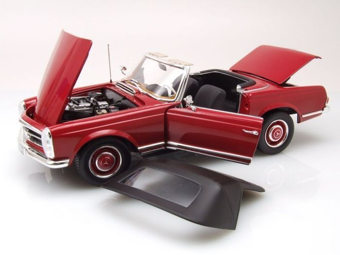 Norev - Scale 1/18 - Mercedes-Benz 280 SL 1969 - Red