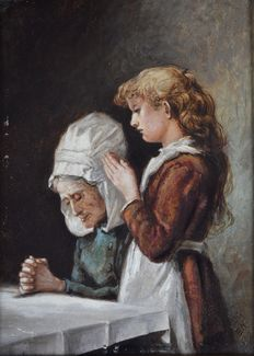 Unknown (19th century) - Saying our prayers