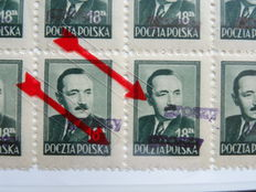 Poland – Study collection Groszy-overprints in SAFE album