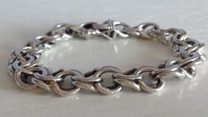 Stoere sterling zilveren armband - Unisex