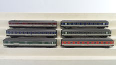 Märklin H0 - From set 26512/42943 - 6 express train carriages of the DB