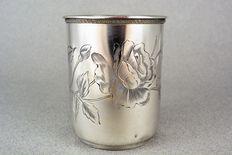Sterling silver tumbler, Russia, 19th century