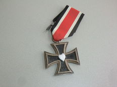 Germany - Eisernes Kreuz II Klasse 1939 with original black-white-red ribbon.