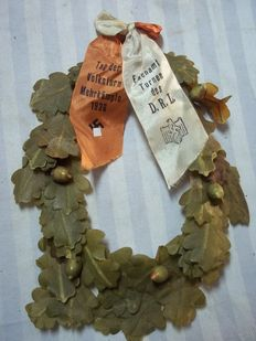German decoration, sports wreath with ribbon of the D.R.L.