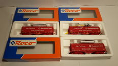 """Roco H0 - 46661.1 - 3 Covered wagons for the transport of rolled steel """"Hoogovens Staal: Steel Going Strong"""" type Shimmns of the NS Cargo"""