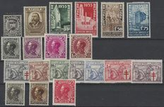 OBP numbers 384 to 403 – Complete year 1934, with hinge