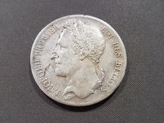 Belgium – 5 francs – 1835 – Leopold the 1st – silver
