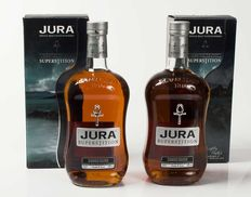 2 bottles - Isle of Jura Superstition 1 liter