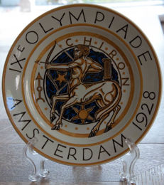 Petrus Regout - Plate of the IX Olympiad, Amsterdam
