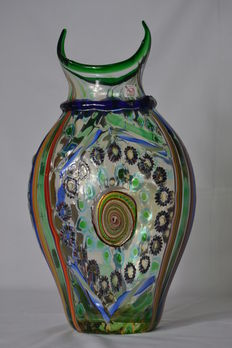Mario Costantini - fantasy vase with canes and murrine