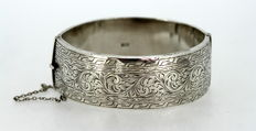 Solid Sterling Silver Wax Filled Bangle, Birmingham 1960, Deakin & Francis Ltd