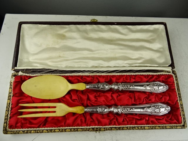 Silver serving set - France - second half 19th century