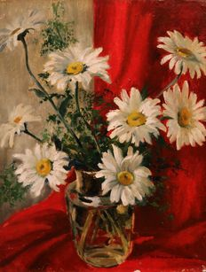 M.L. Stradiot-Bougnet (20th century) - Flower still life