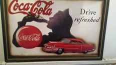 Coca Cola advertising sign - for a cafe
