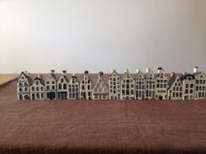 Lot of 15 KLM Delft blue houses