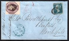 Great Britain - a collection of postal history 1821/1910 including registered cover with SG19 & SG60 6d Embossed.