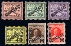 Vatican, 1931-1938, Pious XI, Airmail, postage due, parcel mail, 3 complete series