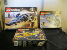 Star Wars - 7151 + 7130 + 7141 - Sith Infiltrator + Snowspeeder + Naboo Fighter