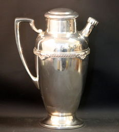Large Silver Plate Water Jug, Made in USA, Melford, ca.1930