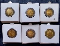 Europe - 2 Euro rate and occasion coins 2006/2016 (35 different coins)