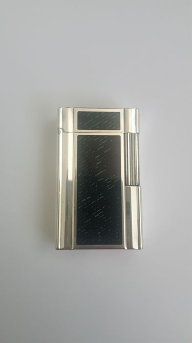 Silver lighter with theme - S.T. DuPont 1872