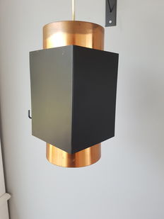 Anvia - Ceiling light red copper and black metal