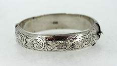 Solid Sterling Silver Bangle, Chester 1960, Joseph Smith & Sons