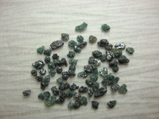 Lot of raw diamonds - 1 to 5.2 mm - 7.12 ct (77)