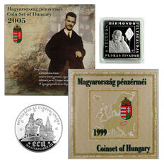 Hungary - Silver 500 Forint 1994, 1000 Forint 2008 and 1999/2005 proof sets (lot of 4 items)