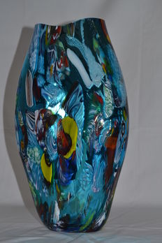 Mario Costantini - big carnival mirrored vase (unique piece 1/1)