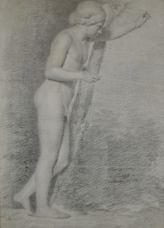 Unknown (18th century) - A nude male study