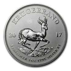 South Africa - 1 Rand- 1 oz Krugerrand 999 - 50 years Krugerrand Anniversary Edition - first silver Krugerrand