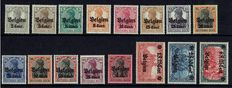 Belgium 1916 – Occupation stamps Germany, Series II – OBP OC. 10/25
